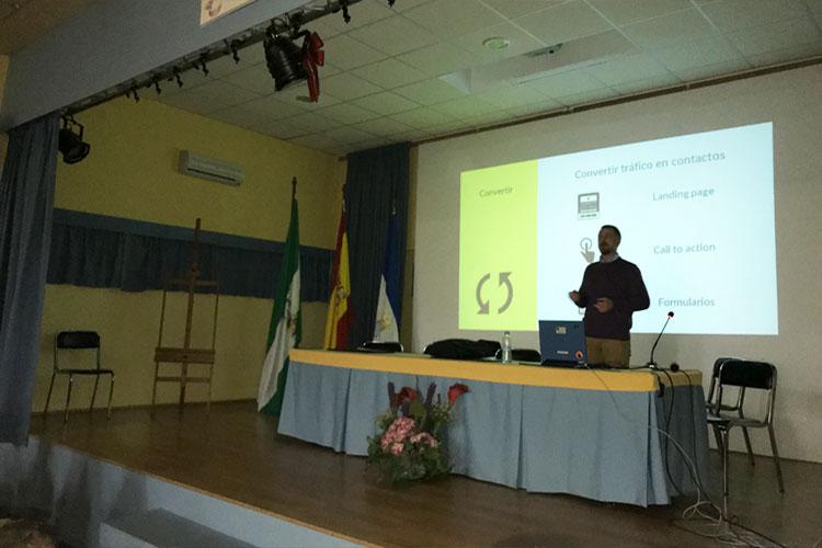 Taller planificación estratégica negocios online Instituto Andrés Benítez Jerez captación de leads