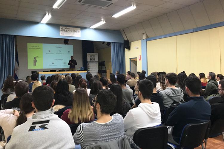 Taller planificación estratégica negocios online Instituto Andrés Benítez Jerez inconvenientes proyecto digital