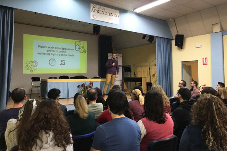 Taller planificación estratégica negocios online Instituto Andrés Benítez Jerez introducción Juan Galera