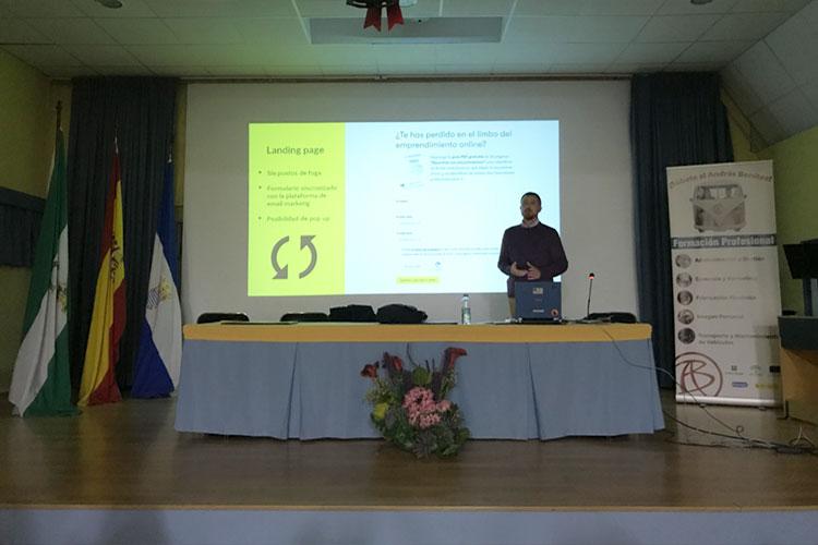 Taller planificación estratégica negocios online Instituto Andrés Benítez Jerez landing page