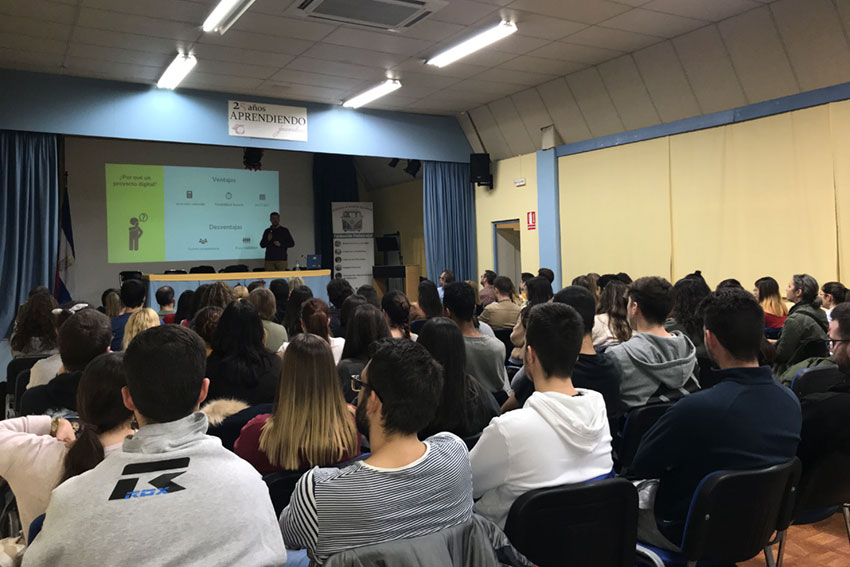 Taller planificación estratégica negocios online Instituto Andrés Benítez Jerez vista auditorio slider